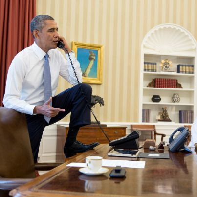 Image of President Obama in Oval Office triggers outrage.Interestingly, he's not the only commander-in-chief to be snapped with his feet up -- Mediaite notes that Presidents George W. Bush and Gerald Ford were both photographed in similar poses behind the historic desk.