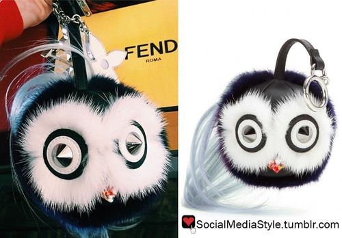 Buy Kylie Jenner's Fendi Fur Bag Bug Keychain, here!