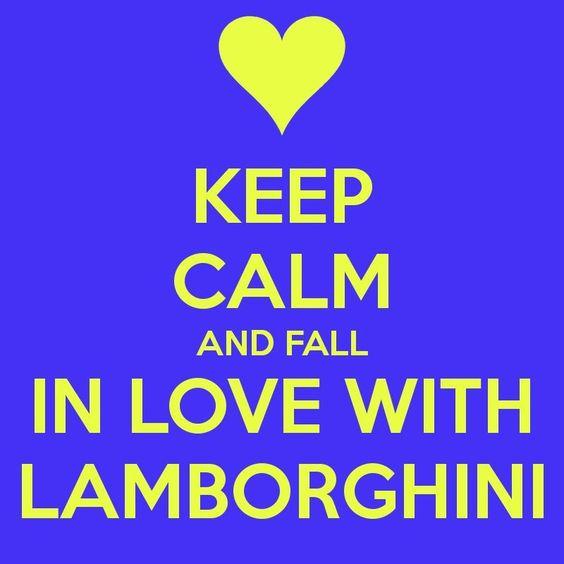 Keep calm lambo