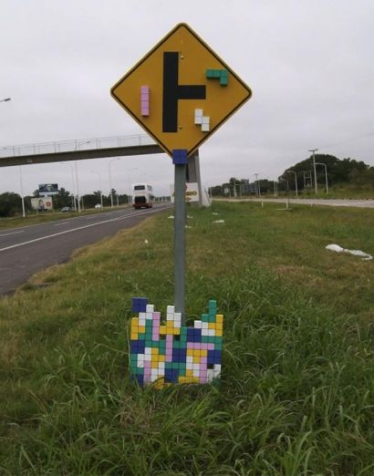 side of the road Tetris