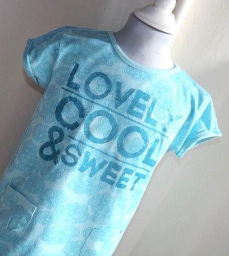 Maedchen-Kinder-T-shirt-Longshirt-Gr-128-Topolino-99