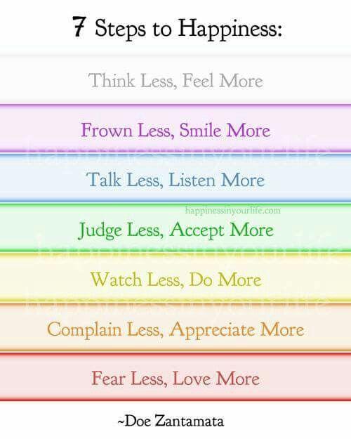Siete reglas para ser felz
