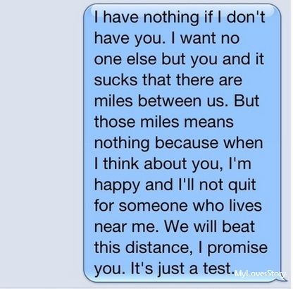 Sweet message for girlfriend long distance