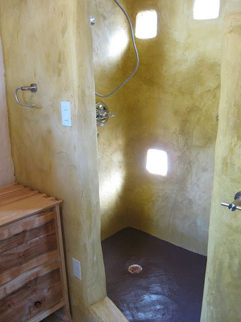 cob shower how does this work wouldn 39 t it erode if this is actually a cob shower i have to. Black Bedroom Furniture Sets. Home Design Ideas