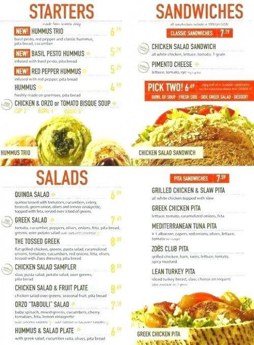Quiz How Much Do You Know About Zoes Kitchen Menu Zoes Kitchen Menu Zoes Kitchen Chicken Salad Sandwich Hummus Chicken Salad