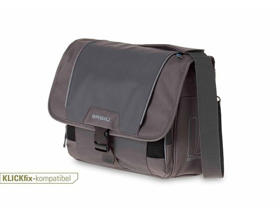 BASIL SPORT DESIGN FRONT BAG Lenkertasche inkl. KLICKfix-Adapterplatte grey