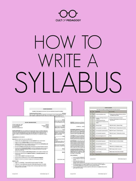 How to Write a Syllabus Middle school teachers, High school and - syllabus template