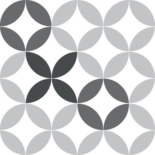 Stickers De Carrelage Rosace Gris Pour Personnaliser Carreaux De Carrelage De Salle De Bain Ou De Cuisine Mur Placards Meubles Ou Objets Deco Decoration