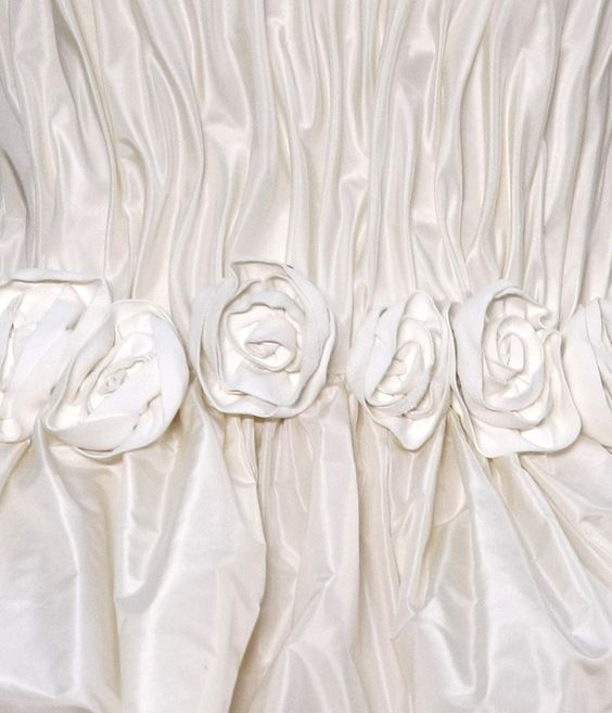 pleats and rosettes in silk