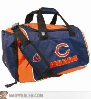 Chicago Bears Football Duffel Bag