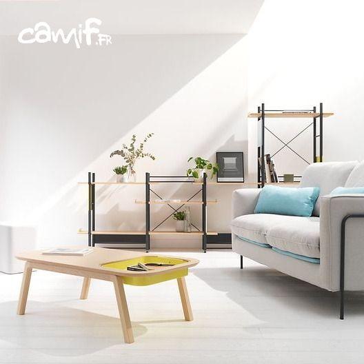Canape Table Basse Bibliotheque Linge De Lit Des Collections 100 Design Et Made In France Avec Images Mobilier De Salon