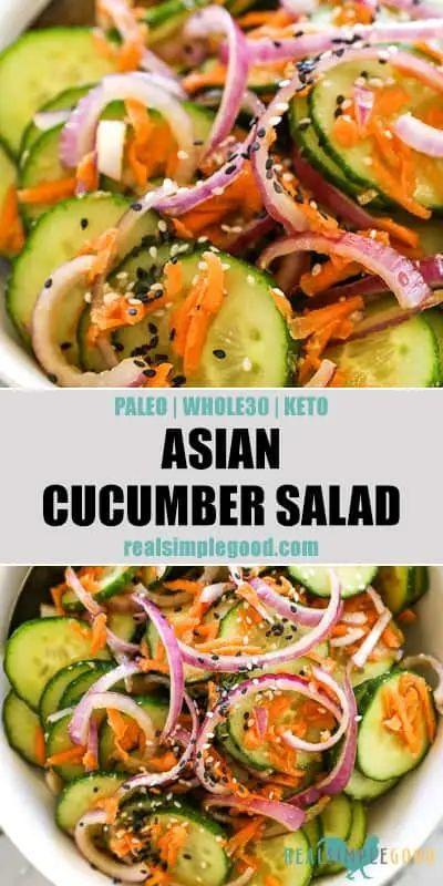 Asian Cucumber Salad (Paleo, Whole30 + Keto)