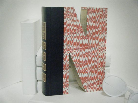 BOOK LETTER N  Anthropologie Inspired Book Art by TwistedPages, $15.99