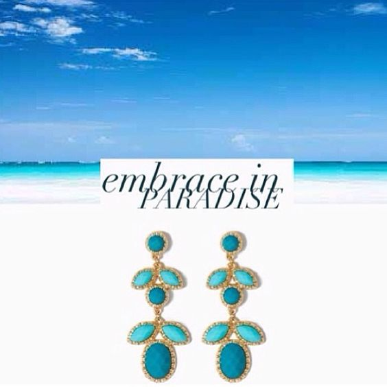 Charming Charlie 601.605.2105 Dreaming of a tropical getaway? Embrace paradise inspired style with our Gem Paradise Earrings. @charm_charlie...