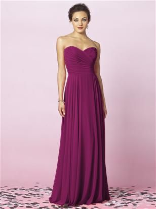 bridesmaids in merlot - stunning color for both blondes and brunettes!