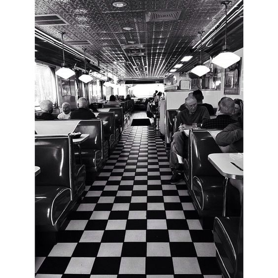 Apparently we're all about the diner atmosphere here. Georgie's. This place has awesome breakfast.