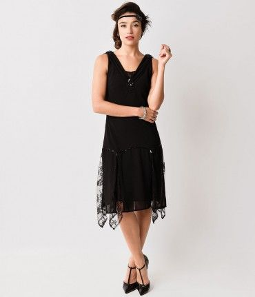 Purchase the black Hemingway flapper dress from Unique Vintage and get free shipping over $150....Price - $128.00-E3T7eVPc