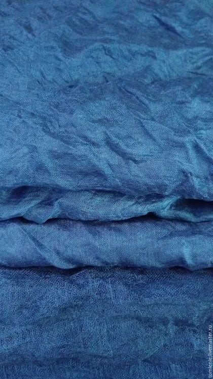 """Валяние ручной работы. Ярмарка Мастеров - ручная работа. Купить набор шелка""""Провинция Шампань"""". Handmade. Синий"""