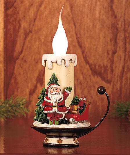 Santa Lighted Candle