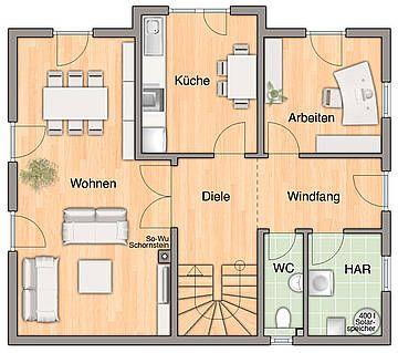 Grundriss erdgeschoss pl ne pinterest for Hausplan modern