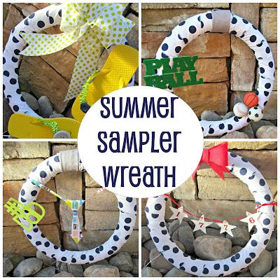 Summer Sampler Wreath {Blog Wars: Round 2 Project}