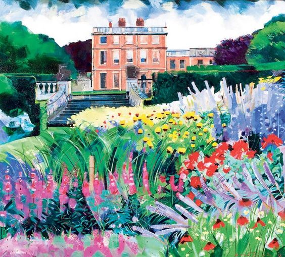A passion for gardens: Louis Turpin's garden pictures - Telegraph.  Newby Hall; side view from the river.