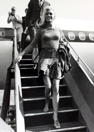 Sept. 2, 1966: Brigitte Bardot in a short skirt