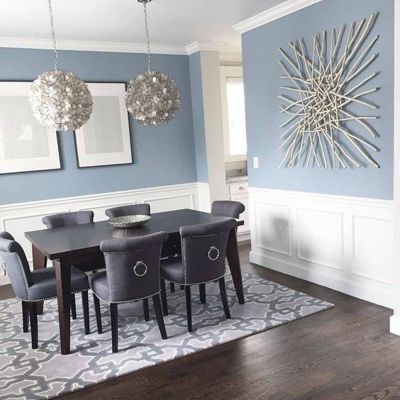 Benjamin Moore Nimbus Grey Dining Room Dining Room Colors Dining Room Blue Dining Room Paint Colors