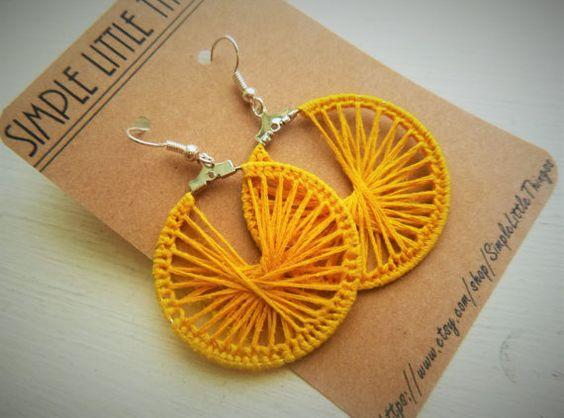 FREE SHIPPING: Crochet Hoop Earrings  by SimpleLittleThingss
