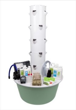 Tower Garden vertical growing system and aeroponic gardening