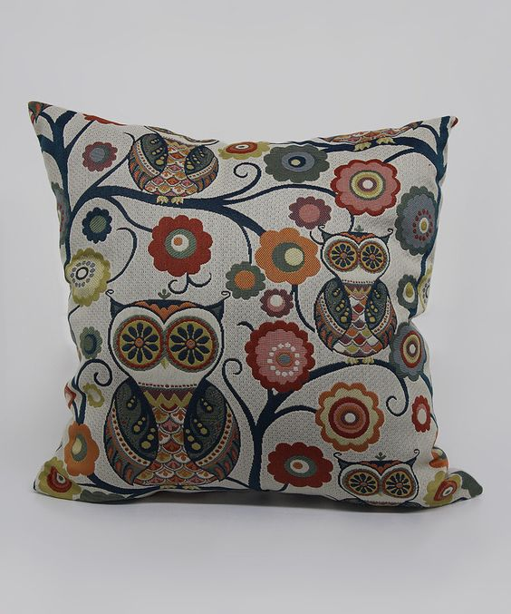 Look at this #zulilyfind! Tropical Wise Owl Throw Pillow by Brentwood Originals #zulilyfinds