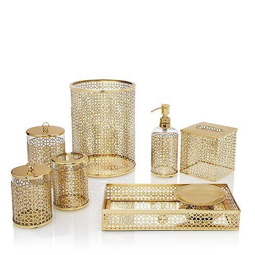 Brass Links Bath Accessories Bathroom Decor Accessories Gold
