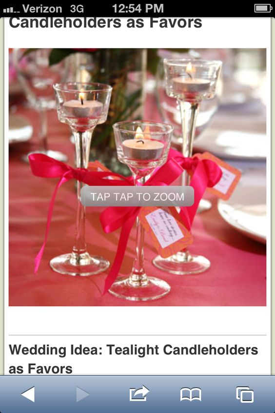 Tea light candle holders as favors
