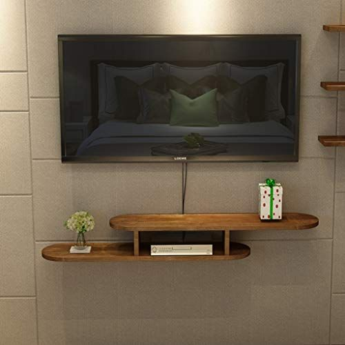 Solid Wood Wall Mounted Tv Shelf Bedroom Living Room Wall Shelf