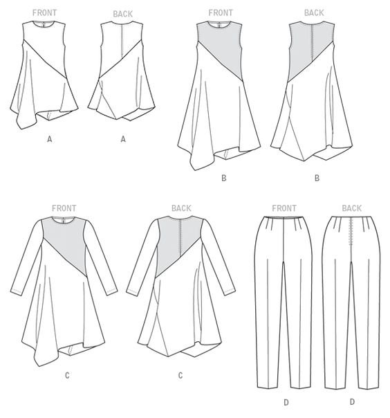 Vogue - V9107 Misses' Tunic, Dress and Pants - Easy