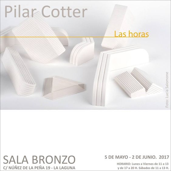 "Pilar Cotter EXPO ""LAS HORAS"" MAY 2017  Tenerife:"