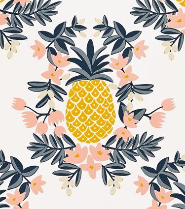 Fond d'écran ananas dessin iphone