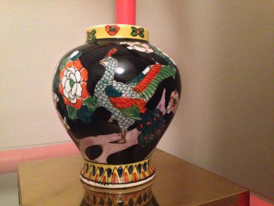 Vintage Asian Vase Japan Birds Bud Vase by ArtandAntlers on Etsy