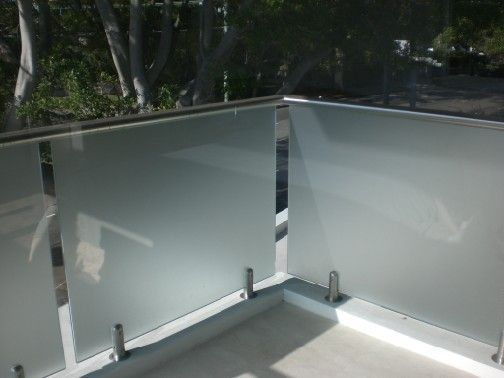 Frosted Tempered Glass Balcony Project Balcony Railing Design Glass Balcony Railing Design