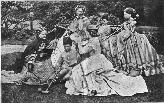 Croquet 1860s-News Photo: Victorian croquet party photographed by Lewis Carroll January 1860