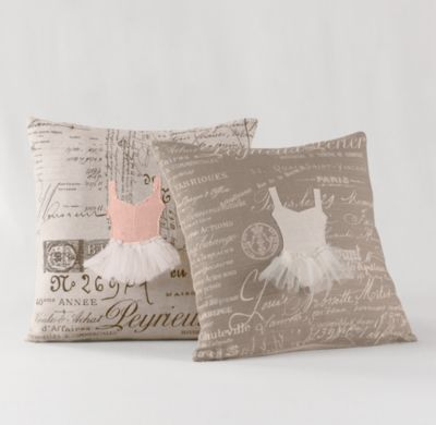 Appliqued Ballerina Decorative Pillow Cover & Insert Decorative Pillows Restoration Hardware ...