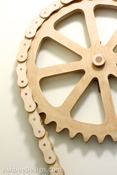 Wooden Bike Chain from 1973 by Marji Roy of AshbeeDesign.com