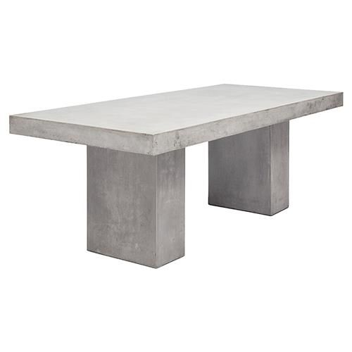Grace Modern Classic Durable Grey Rectangular Outdoor Dining Table