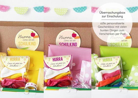 Einschulungsbox | Geschenkbox Buchstabensalat von nähfein auf DaWanda.com