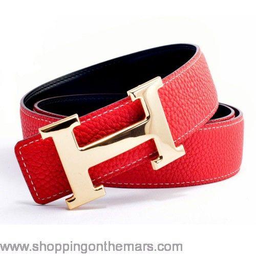 kelly handbags - New year 2014 Hermes red original h belt for women | Hermes ...