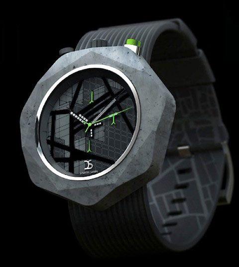 Urban sci-fi concrete watches by Dzmitry Samal