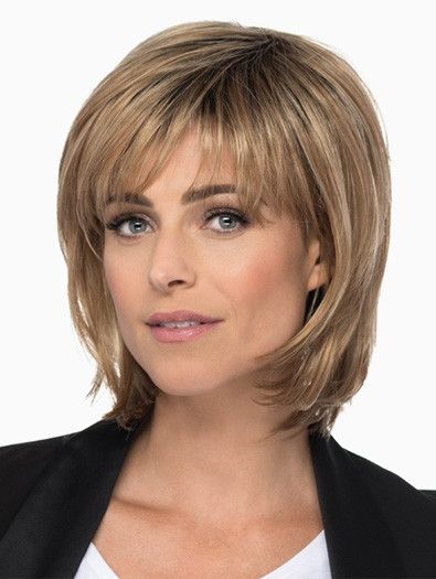 HEATHER by Estetica on Sale | Buy Online, Wigs Ship Fast | Heather by Estetica has a timeless classical look . It is a Medium Length Layered Bob with Soft Bangs & Face