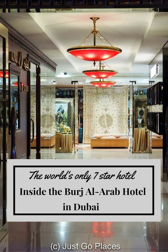 The Burj Al-Arab Hotel in Dubai is known for being the ultimate in luxury having proclaimed itself a 7 star hotel.  Lots of other luxury travel brands agree.  See for yourself!