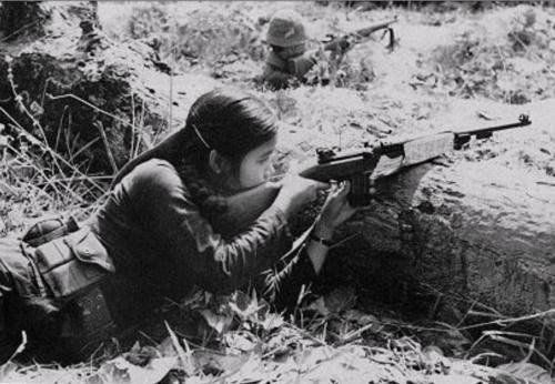 Female Vietcong soldier.: