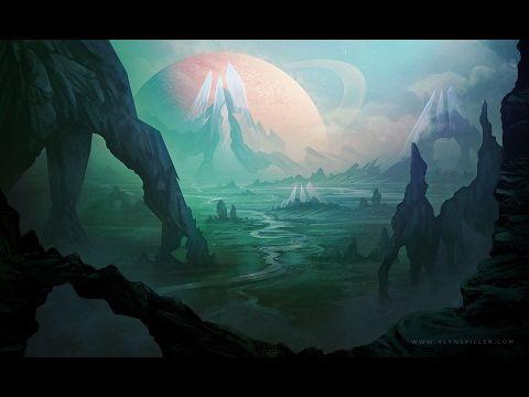 Digital Speed Painting - Sci-Fi Landscape - YouTube | Sci fi concept art, Fantasy  art landscapes, Landscape drawings